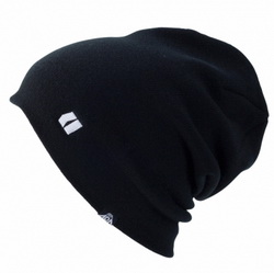 Fine Knit Stripe Beanie Black 12/13 -